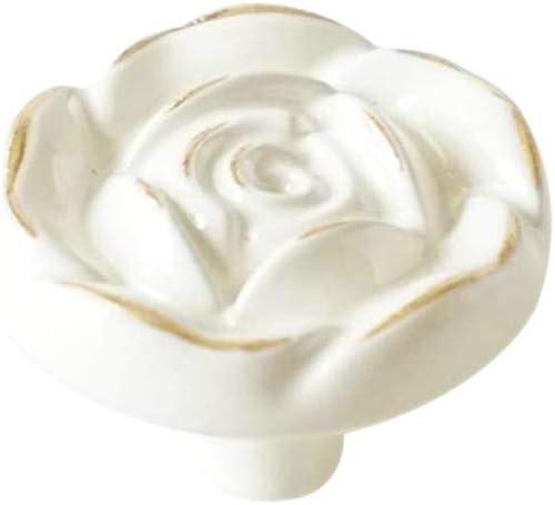 Knobs Rose Flower  Shabby Chic Dresser Knobs  Ceramic Drawer Knobs Pulls Handles  Unique Cabinet Knobs Pull Handle Hardware Dark Purple