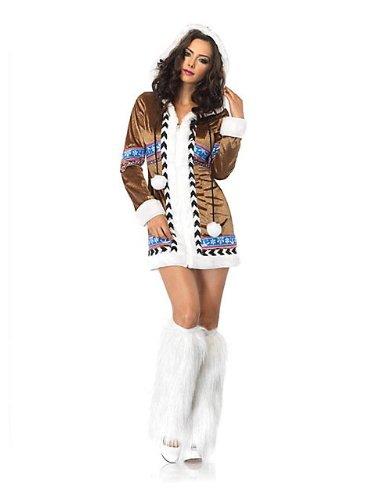 [Leg Avenue Women's Igloo Cutie Eskimo Costume, Brown, Large] (Eskimo Cutie Costumes)