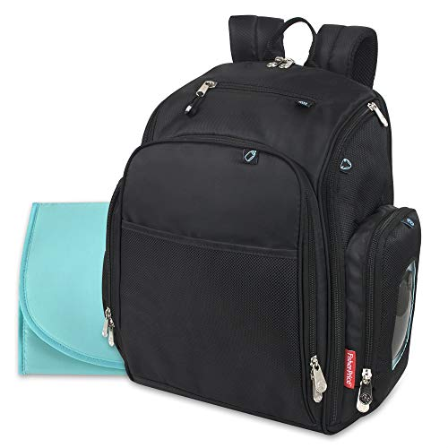 - Fastfinder 3 Piece Set Diaper Bag Backpack for Moms & Dads with Changing Pad and Wipes Pocket