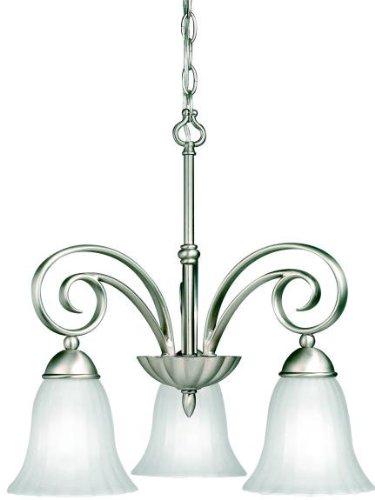 Kichler 3326NI Kitchen Nook Chandelier Lighting, Brushed Nickel 3-Light (19