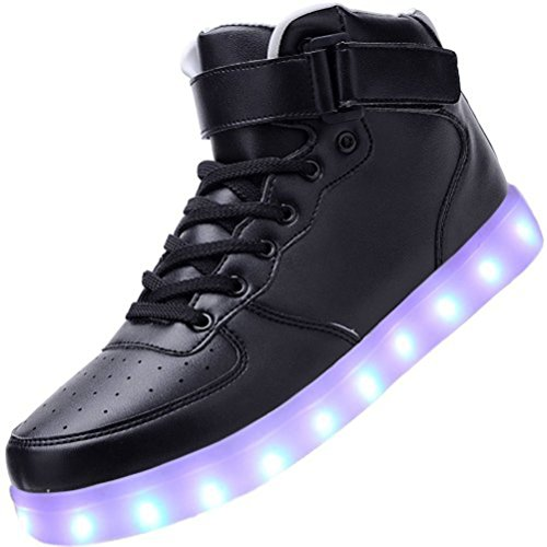 towel Men USB small JUNGLEST® Top Shoes Black Sport LED Present Women Charging High wBqT5g