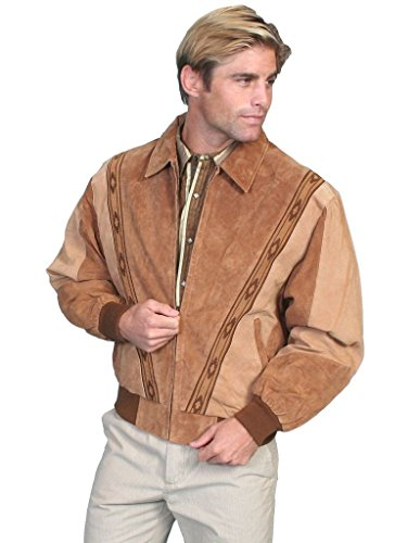 Scully Men's Boar Suede Leather Arena Jacket Cafe XXX-Large