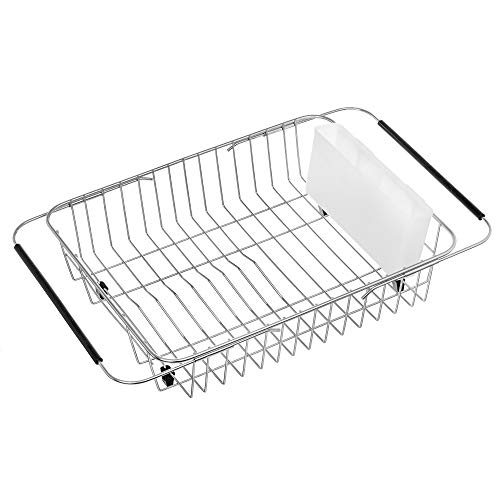 iPEGTOP Dish Drying Rack with White Cutlery Utensil for sale  Delivered anywhere in USA