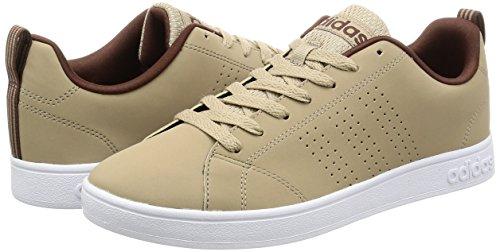 Adidas VS ADVANTAGE CLEAN Herren Sneaker, Beige–(stcaqp/stcaqp/Mahagoni) 422/3