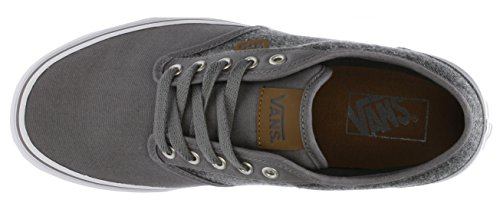 Vans M ATWOOD (CANVAS)CHARCOL Herren Sneaker CL Pewter White