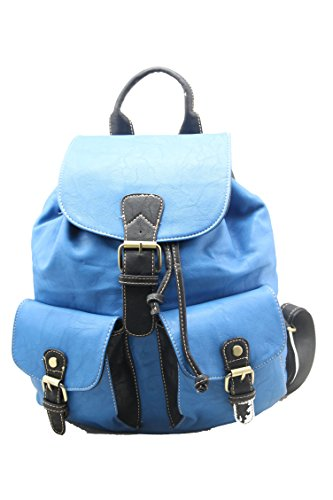 RS.FASHIONS - Bolso mochila para mujer Color Multi M Skyblue/Black
