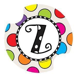 Polka Dotted Monogram Z - Style DLYMZ