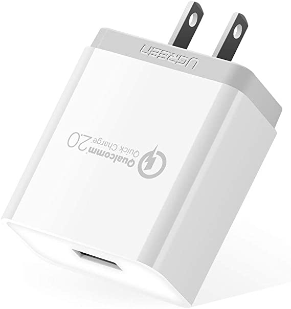 UGREEN Fast Charger Quick Charge QC 2.0 Adapter, 18W USB Wall Charger Rapid Charger Compatible for Samsung S9 S8 Plus S7 S6 Edge, Google Nexus 6, LG ...