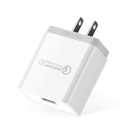 Amazon.com: Ugreen cargador rápido Quick Charge 2.0 18 W ...