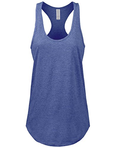 Women's Basic Jersey Racer-Back Royal Tank Top - Jersey Racerback Womens