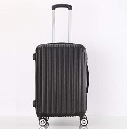 Color : Black, Size : M Tjtz Large Capacity 26 inch 28 inch ABS Trolley case Luggage Universal Wheel Password Suitcase Men and Women