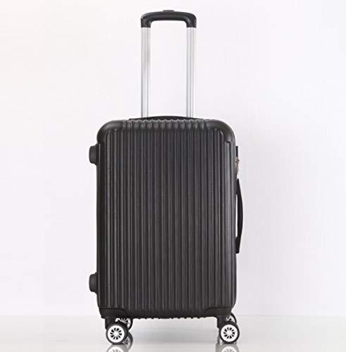 ShiMin 大容量26インチ28インチABSトロリーケース荷物ユニバーサルホイールパスワードスーツケース男女 (Color : ブラック, Size : L) L ブラック B07PLK19PS
