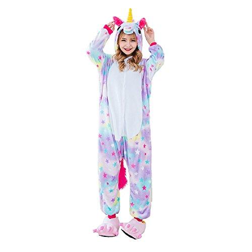 Rainbow Fox Homewear Adults Unicorn Pajamas Unicorn Cosplay Costume sleepwear Halloween Costumes (Small, (Star Fox Costume Halloween)