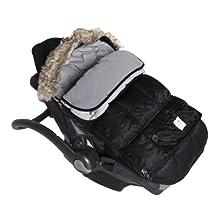 7 AM Enfant Le Sac Igloo Car Seat/ Stroller Blanket - Black - Medium