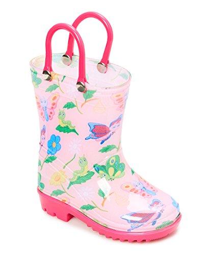 (Storm Kidz Kids Girls Butterfly Printed Rainboots, Big Kid 3)