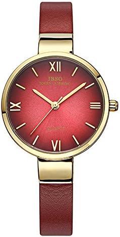 Women Watches Leather Strap Round Case Analog Fashion Ladies Watch Wrist Watches