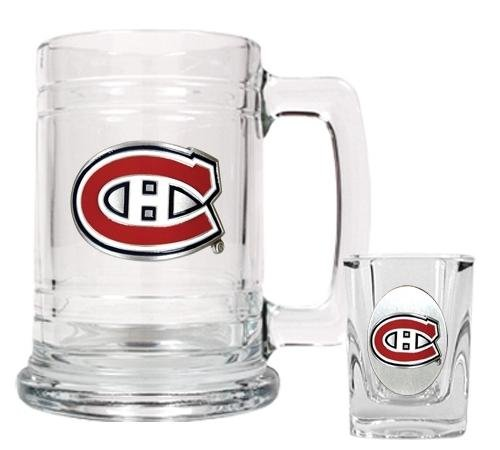 NHL Montreal Canadiens Boilermaker Set - Primary (Glass Nhl Mug)