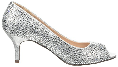 Pink Paradox London Damen Chantal Peep-Toe Silberfarben