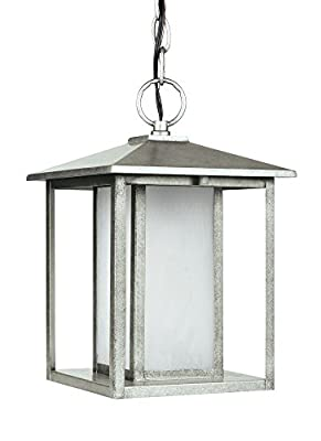 Sea Gull 69029-57 Hunnington Outdoor Pendant, 1-Light 100 Watts, Weathered Pewter