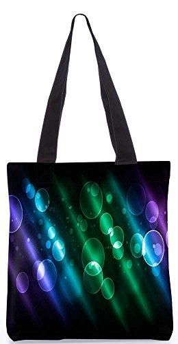 """Snoogg Mehrfarbige Blasen Einkaufstasche 13,5 X 15 In """"Einkaufstasche Dienstprogramm Trage Aus Polyester Leinwand"""