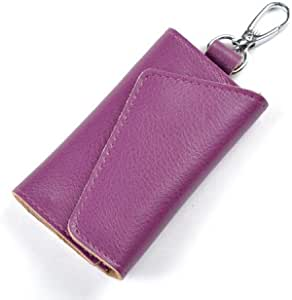 Fashion Genuine Leather Key Wallets Creative Card Package Multi-function Bags For Keys Holder Purple