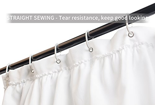 REDUCE BLOWING This Bathroom Shower Curtain Is Lightweight But Strong Enough To Hangs Straight Weighted Prevent Blow Out