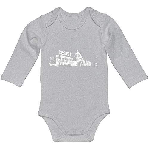 Indica Plateau Baby Onesie Resist Capitol Heather Grey for Newborn Long-Sleeve Infant Bodysuit]()