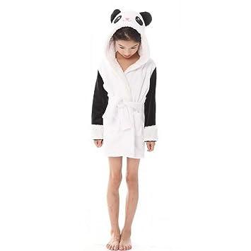 SHANGXIAN Mujeres Calentar Animal Bata De Baño Encapuchado Suave Felpa Batas Linda Ropa De Dormir Loungewear,Child,120: Amazon.es: Hogar