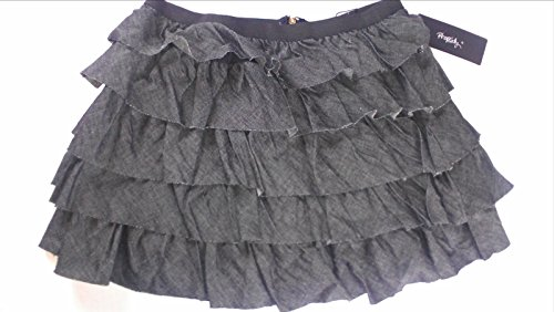 Stretch Nordstrom Skirt - Rhapsody Skirt Juniors Large Tiered Gray Black Zip Back 28