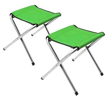 Hengtong - 2 sillas Plegables de Aluminio con Patas de Lona ...