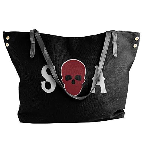 Canvas Tote Bag Sons Of Anarchy Season Totes Purse Handbags Shoulder Bags For Women (Son Of Anarchy Handbags)