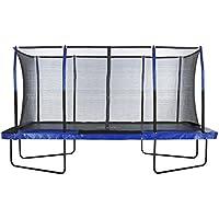 Upper Bounce 8 ft. x 14 ft. Rectangular Trampoline with Fiber Flex Enclosure Feature