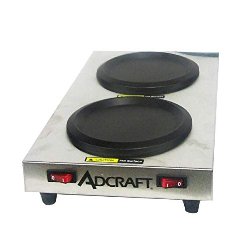 (Adcraft SWP Side Dual Warmer Plates, Stainless Steel, 500-Watts, 120v)
