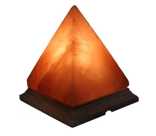 IndusClassic LG-01 Pyramid Himalayan Crystal Rock Salt Lamp Ionizer Air Purifier 5~8 lbs / UL Listed Cord and Dimmer Control Switch, Exceptional Quality Packaging by Indus Classic