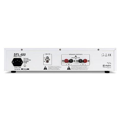 DJ-Mixer Mischpult und 2 Mikrofone AUX-IN f/ür externe Quellen, Lautsprecher-Anschl/üsse, inkl. Cinch-Kabel DJ SET DJ-94 PA Karaoke Set f/ür Anf/änger 400W PA-Verst/ärker wei/ß