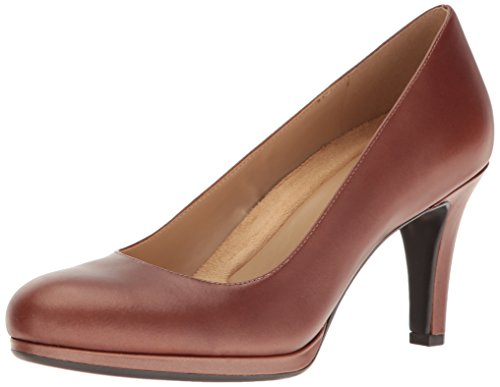 (Naturalizer Women's Michelle Platform Pump, Caramel, 8.5 M US)