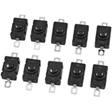 10 Pcs 2 Terminal SPST Push Button Switch AC/DC 250V 1.5A for Torch