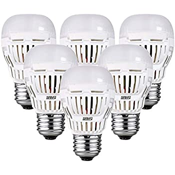 SANSI 9W(100w Equivalent) A15 LED Bulbs, ETL Listed, 900-1000lm Daylight 5000K LED Light Bulbs, 6-Pack