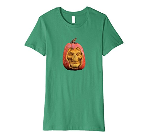 Dead Female Celebrities Costumes (Womens Witch pumpkin Halloween t-shirt Small Kelly Green)