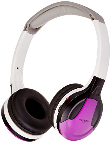 XO Vision Universal IR in Car Entertainment Wireless Foldable Headphones, Purple
