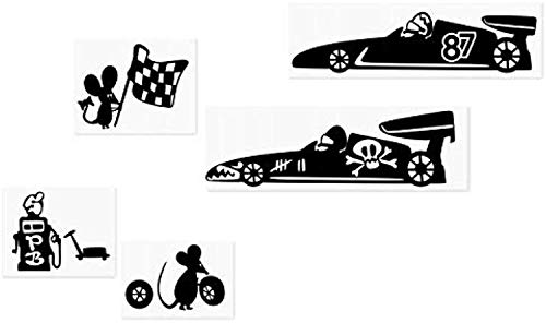 World Decals Mouse Formula 1 F1 Car Racing Flag Hole Home Live Funny Wall Art Decal Stickers Baseboard Kids Mice Skirting Board Birds ()