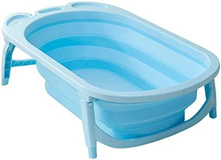 Baby Bath Tub Foldable Tub for Infant Portable Collapsible Toddler Bathing Support Skid Proof with Cushion Insert for Bathing Newborns