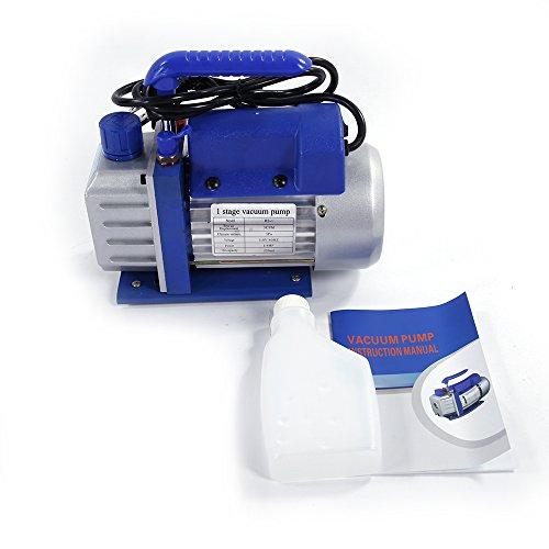 3 Cfm Vacuum Pump (Z ZTDM 3CFM or 5CFM Air Vacuum Pump HVAC A/C Refrigeration Kit AC Manifold Gauge Set Rotary Vane Economy Vacuum Pump Blue (3CFM))