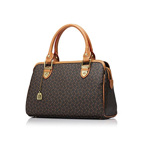 Grebago Women's Double Handle Bag Quality Leather Handbag/boston Bag - Double Handle Handbag