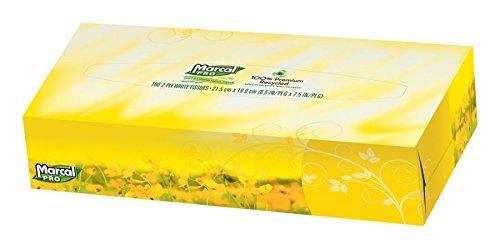 Marcal Pro 100% Premium Recycled Facial Tissue 100Box 30 BoxesCarton
