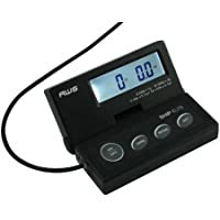 American Weigh Scales SE-50 Ship Elite Black Low Profile Shipping Scale with Backlit LCD and 110-Pound Capacity