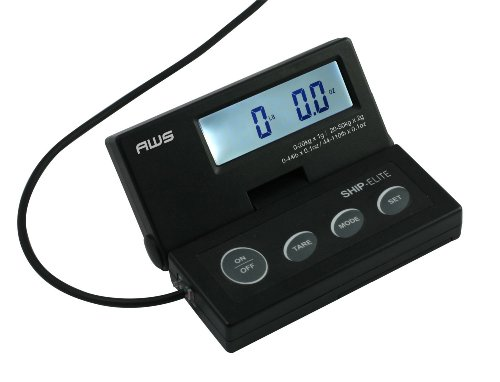American Weigh Scales SE-50 Ship Elite Black Low Profile Shipping Scale with Backlit LCD and 110-Pound Capacity by American Weigh Scales