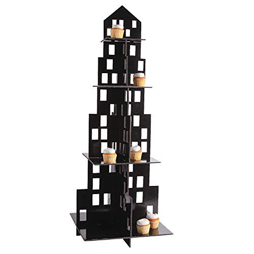 Large City Cupcake Holder (4 Tiers of Cupcakes) - Party Supplies -