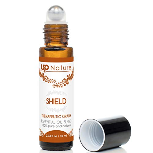 Shield Essential Oil Roll-On Thieves Blend - Keep Immunity On Guard - Fight Germs - Relieve Cold & Cough - Safe & Easy Application Roller - High-Quality - Leak-Proof Rollerball - No Diffuser Needed!