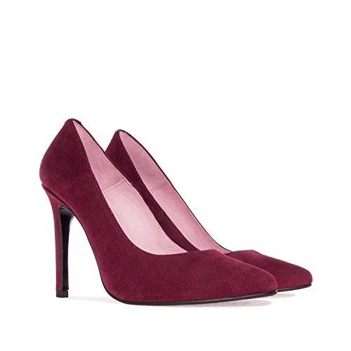 Andres Machado.DIANA.Zapato Tacón de Piel de Mujer.Tallas Pequeñas y Grandes de la 32-35/42-45. Fabricación Español. Rioja